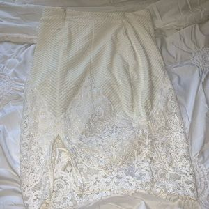 Dresses & Skirts - Midi Cream and White Lace Skirt